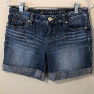 Lauren Conrad denim shorts medium wash mid rise
